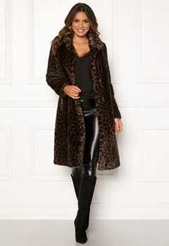 ROCKANDBLUE Penny Faux Fur Brownish/Leopard Bubbleroom.eu