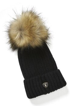 ROCKANDBLUE Pom Pom Hat Black/Natural Bubbleroom.eu