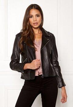 ONLY Rocky L/S Leather Jacket Black Bubbleroom.eu