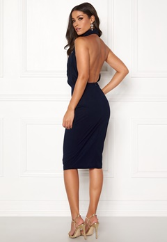 AX Paris Rouch Halter Midi Dress Navy Bubbleroom.eu