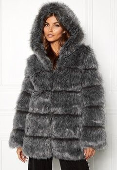 AMO Couture Rubens Faux Fur Coat Silver Fox Bubbleroom.eu