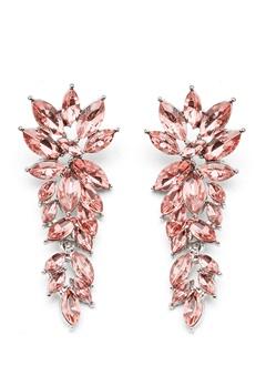 SNÖ of Sweden Rush Pendant Earrings Silver/Light Pink Bubbleroom.eu