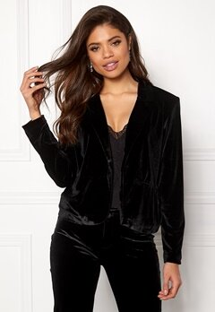 Rut & Circle Adina Velvet Jacket Black Bubbleroom.eu