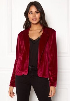 Rut & Circle Adina Velvet Jacket Rococco Red Bubbleroom.eu