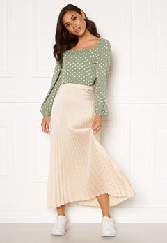 Rut & Circle Bianca Long Skirt Light Beige Bubbleroom.eu