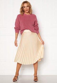 Rut & Circle Bianca Pleated Skirt Light Beige Bubbleroom.eu