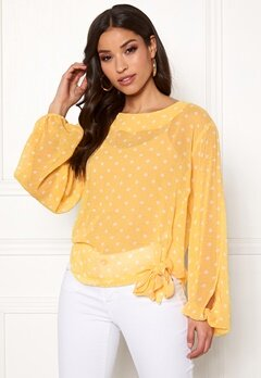 Rut & Circle Dot Sleeve Open Blouse Butter Bubbleroom.eu