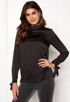 Rut & Circle Ebba Back Knot Blouse Black Bubbleroom.eu