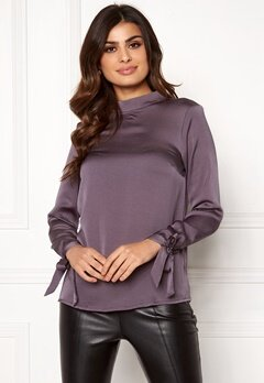 Rut & Circle Ebba Back Knot Blouse Lt Grey Bubbleroom.eu