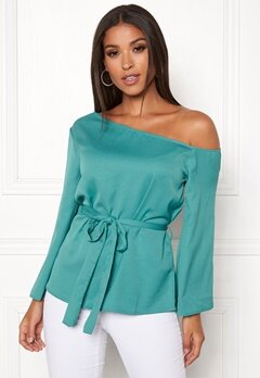 Rut & Circle Elis Off Shoulder Blouse Green Garden Bubbleroom.eu
