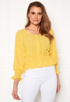 Rut & Circle Freya Blouse Yellow Bubbleroom.eu