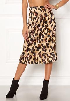Rut & Circle Frill Midi Skirt Leopard Bubbleroom.eu