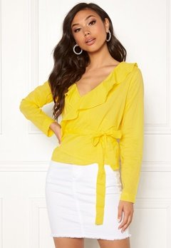 Rut & Circle Frill Wrap Blouse 752 Butter Bubbleroom.eu