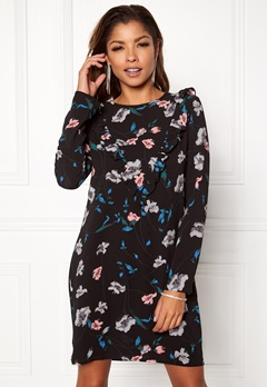 Rut & Circle Hilda Frill Dress Black Combo Bubbleroom.eu
