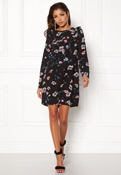 Rut & Circle Hilda Frill Dress Black Combo Bubbleroom.eu