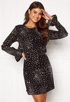 Rut & Circle Isa Dress Black/White Star Bubbleroom.eu