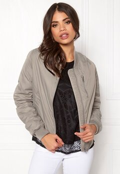 Rut & Circle Kate Front Zip Jacket Lt Grey Bubbleroom.eu