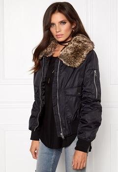 Rut & Circle Kate Fur Collar Jacket 001 Black Bubbleroom.eu