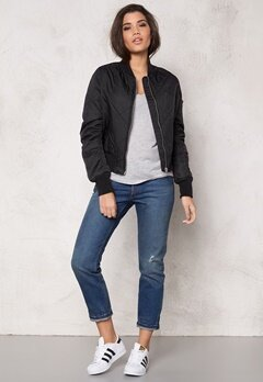 Rut & Circle Kate Quilt Bomber Jacket Black Bubbleroom.eu