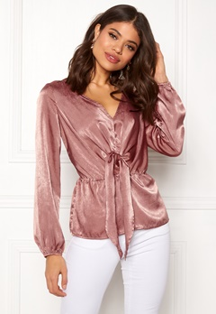 Rut & Circle Knot Blouse Blush Bubbleroom.eu