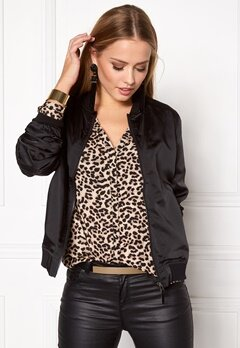 Rut & Circle Linda Bomber Jacket Black Bubbleroom.eu