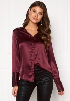 Rut & Circle Lucy Shirt Wine Red Bubbleroom.eu