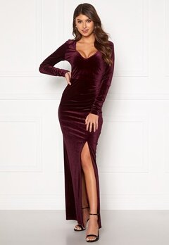 Rut & Circle Nikki Maxi Dress Wine Red Bubbleroom.eu