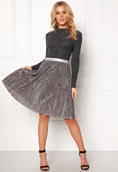 Rut & Circle Nina Pleat Skirt Silver Bubbleroom.eu