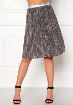 Rut & Circle Nina Pleat Skirt Silver Bubbleroom.eu