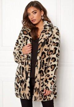 Rut & Circle Nova Faux Fur Leo Jacket Leopard Bubbleroom.eu