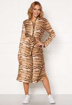 Rut & Circle Sofi Shirt Dress Tiger Print Bubbleroom.eu