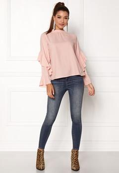 Rut & Circle Sonya Frill Sleeve Blouse Dusty Pink Bubbleroom.eu