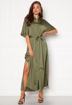 Rut & Circle Tilde Long Dress Khaki Green Bubbleroom.eu