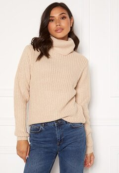 Rut & Circle Tinelle Rollnneck Knit Beige Bubbleroom.eu