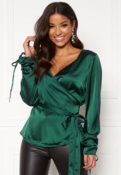 Rut & Circle Vega Wrap Blouse Green Garden Bubbleroom.eu