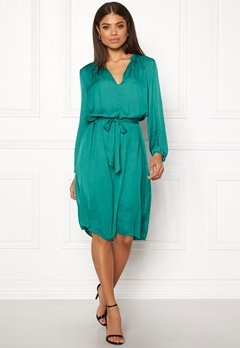 Samsøe & Samsøe Elva ls Dress Quetzal Green Bubbleroom.eu