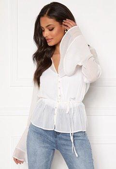 Sandra Willer X Bubbleroom Bell sleeve blouse White Bubbleroom.eu