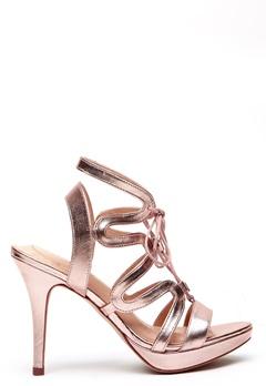 SARGOSSA Chic Nappa Leather Heels Rose Gold Bubbleroom.eu