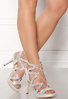 SARGOSSA Chic Pattern Leather Heels Silver Bubbleroom.eu