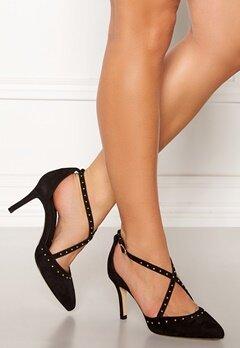 SARGOSSA Glitzy Suede Heels Black Bubbleroom.eu