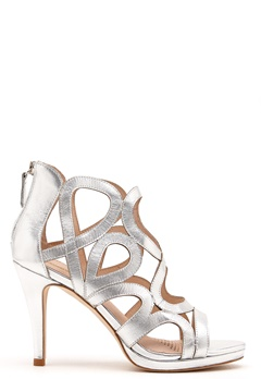 SARGOSSA Redefined Silver Leather Heels Silver Bubbleroom.eu