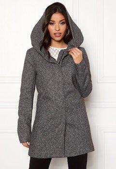 ONLY Sedona Light Coat Dark Grey Melange Bubbleroom.eu