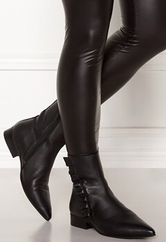 SELECTED FEMME Alexia Leather Frill Boot Black Bubbleroom.eu