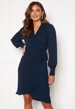SELECTED FEMME Alva LS Wrap dress Dark Sapphire Bubbleroom.eu