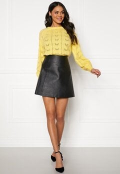 SELECTED FEMME Bobi MW Leather Skirt Black Bubbleroom.eu