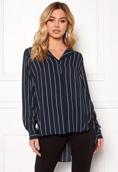 SELECTED FEMME Dynella stripe L/S Shirt Creme Bubbleroom.eu