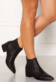 SELECTED FEMME Elena New Leather Boot Black Bubbleroom.eu