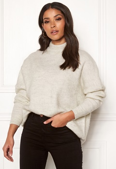 SELECTED FEMME Enica LS Knit O-neck Birch Bubbleroom.eu