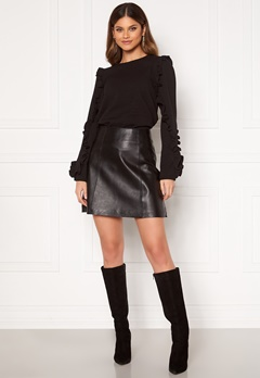 SELECTED FEMME Ibi Leather Skirt Black Bubbleroom.eu