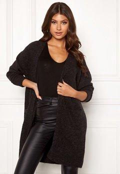 SELECTED FEMME Lanna LS Knit Cardigan Dark Grey Melange Bubbleroom.eu